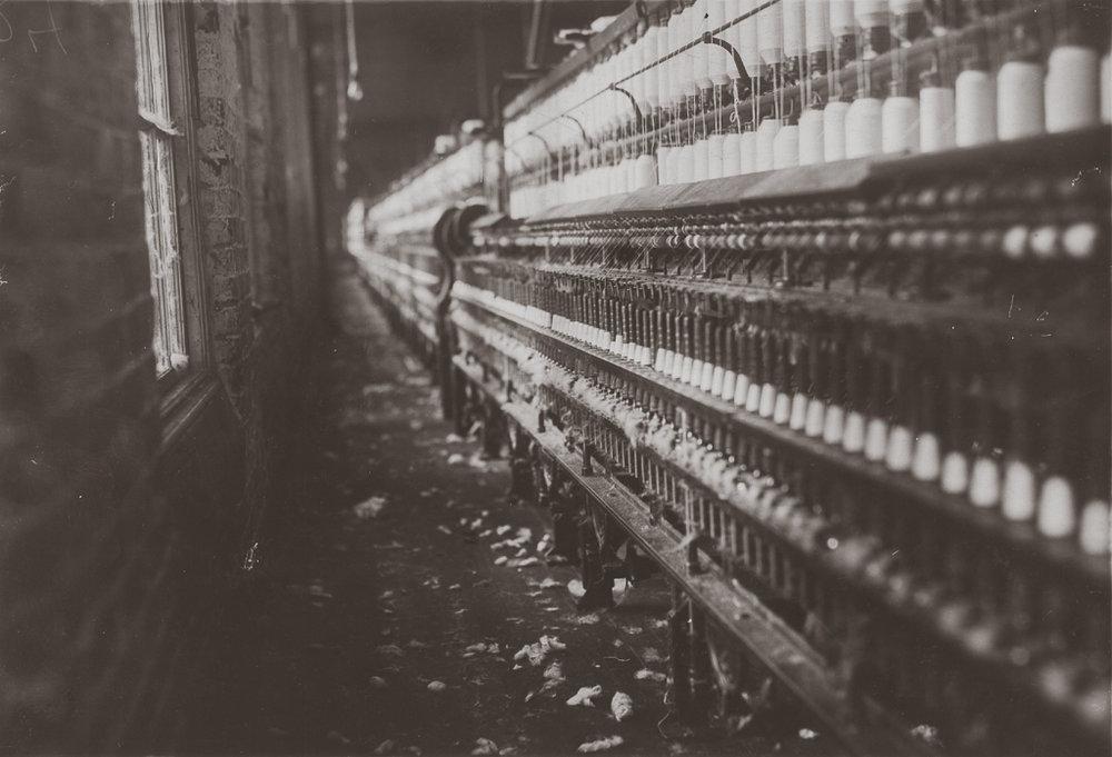 LEWIS WICKES HINE,  Spinning Frame s, Kosciusko, Mississippi, 1913
