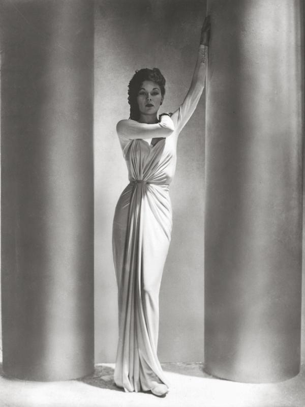 HORST P. HORST,  Alix Dress, Fashion ,  Lud with Columns, Paris , 1938