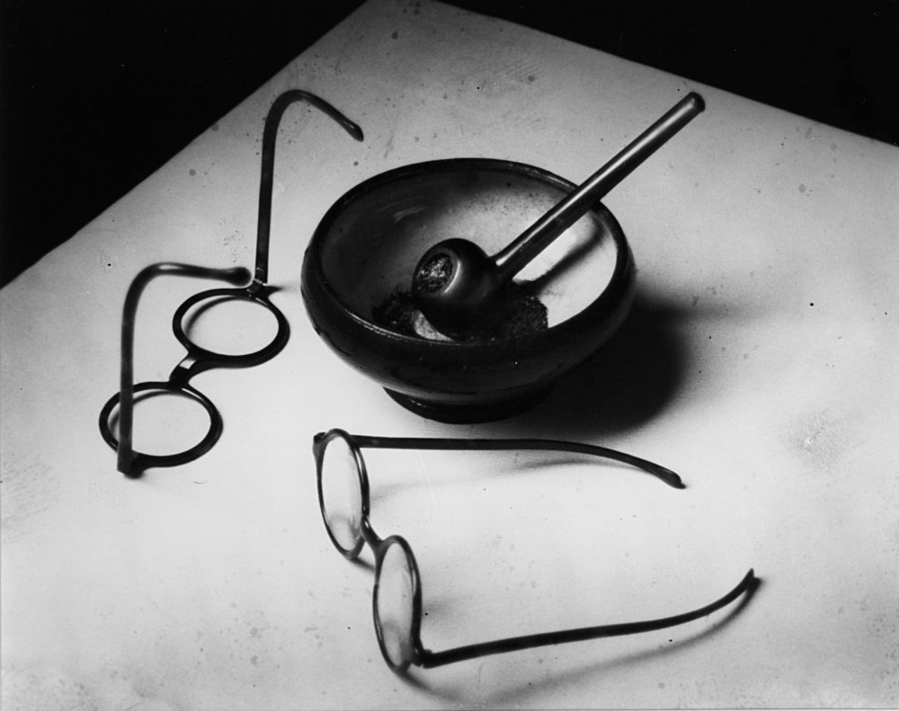 ANDRE KERTESZ,  Mondrian's Glasses and Pipe ,  Paris , 1926