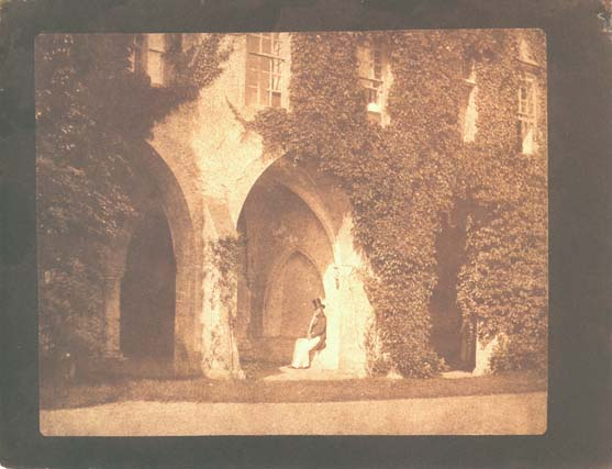 WILLIAM H. FOX TALBOT, The Ancient Vestry, Calvert Jones in the Cloisters at Lacock Abbey, September 9, 1845