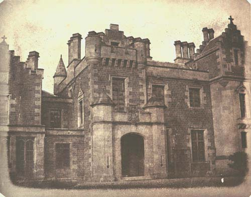 WILLIAM H. FOX TALBOT,  Abbottsford, Scotland  (the ancestoral home of Walter Scott), C. 1845