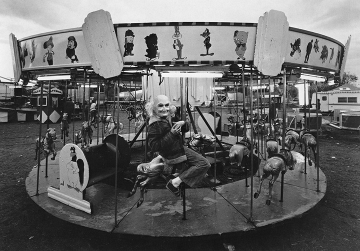 RANDAL LEVENSON,  Roughie on Merry-Go-Round , King's Shadows, Woodbridge, Ontario, 1974