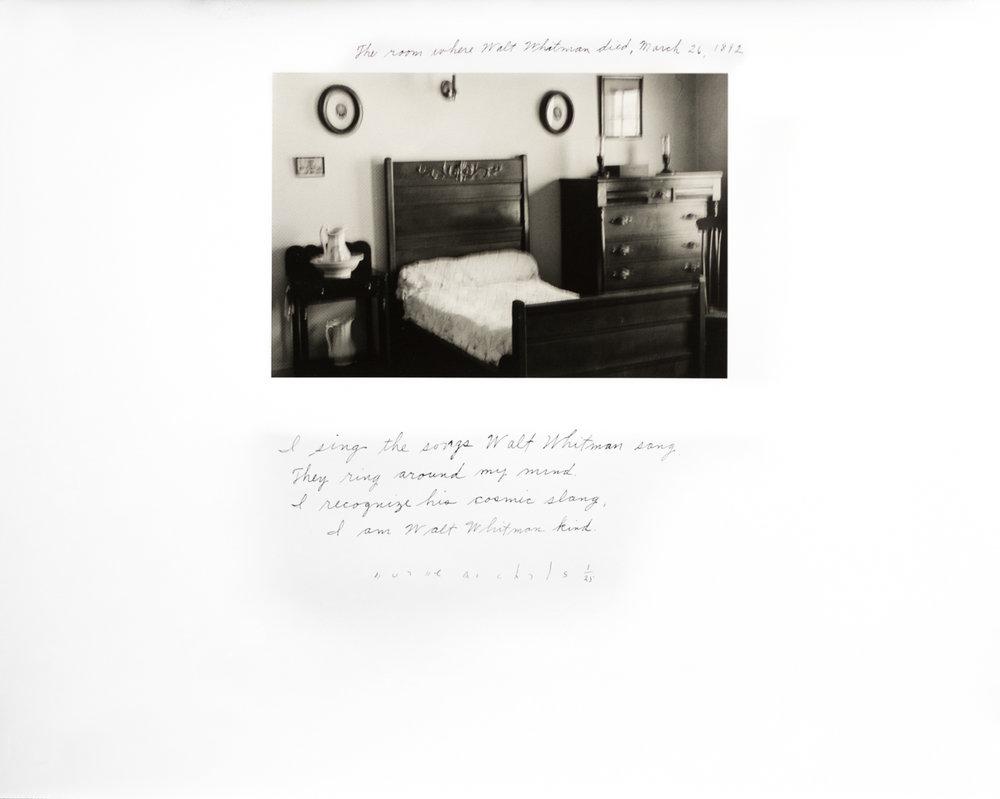 DUANE MICHALS,  The Room Where Walt Whitman Died , 1995