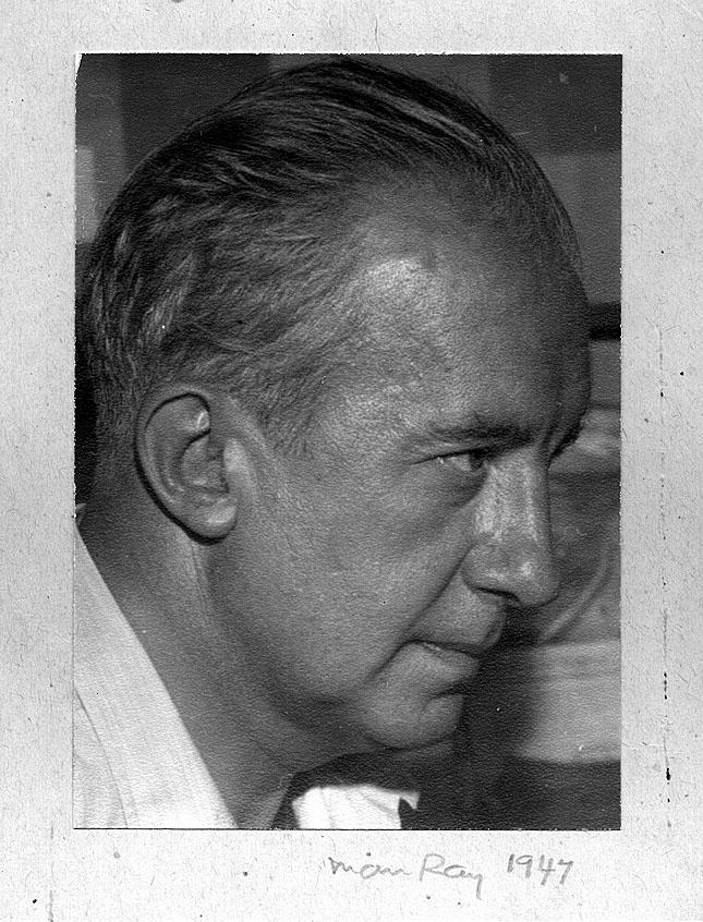 MAN RAY, Paul Eluard in profile , 1947