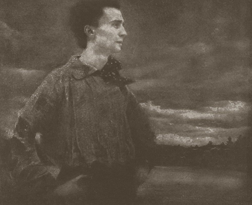 EDWARD STEICHEN,  Portrait of a Young Man (Self-Portrait) , 1905