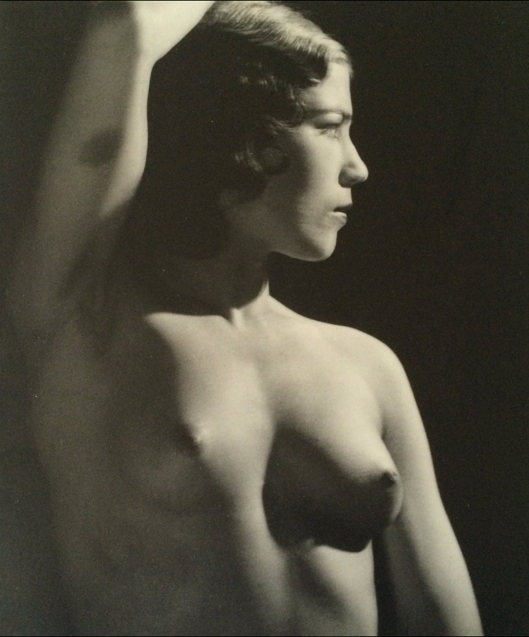 MAN RAY,  Nude Torso  (arm raised), C. 1937