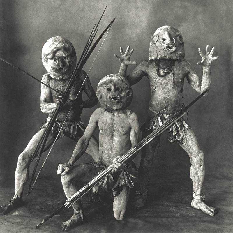 IRVING PENN, Three Asaro Mudmen, New Guinea, 1970