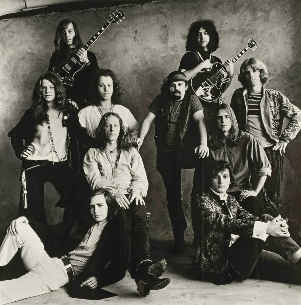 IRVING PENN,  Rock Groups, San Francisco Big Brother and the Holding Company and The Grateful Dead , 1967