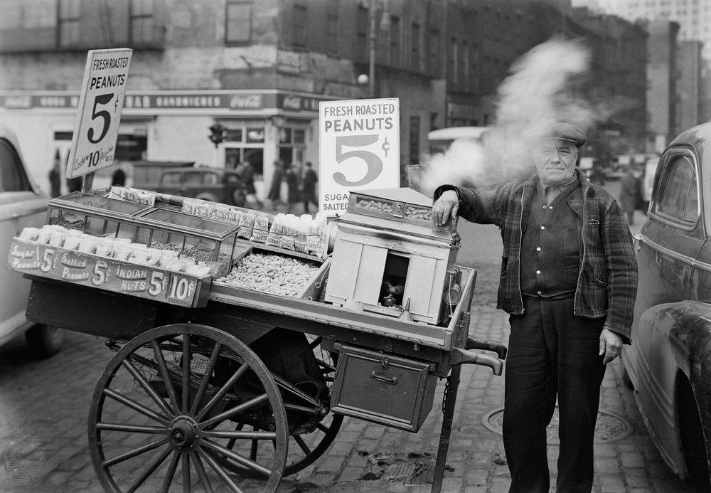 TODD WEBB,  Peanut Seller , 1945