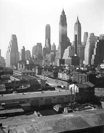 TODD WEBB,  Madison NY,  Lower Manhattan from Brooklyn Bridge, 1946