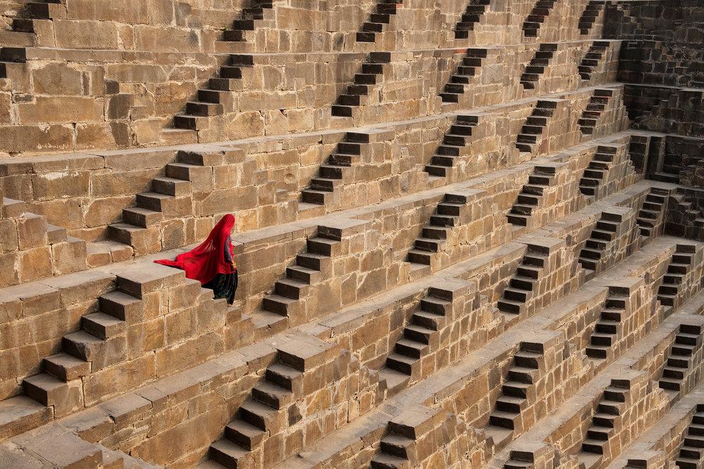 STEVE MCCURRY,  Chand Baori Stepwell ,  Rajasthan, India , 2016