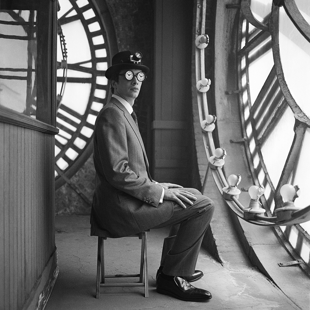 RODNEY SMITH,  Collin Seated with Clock Glasses , New York City, 2005