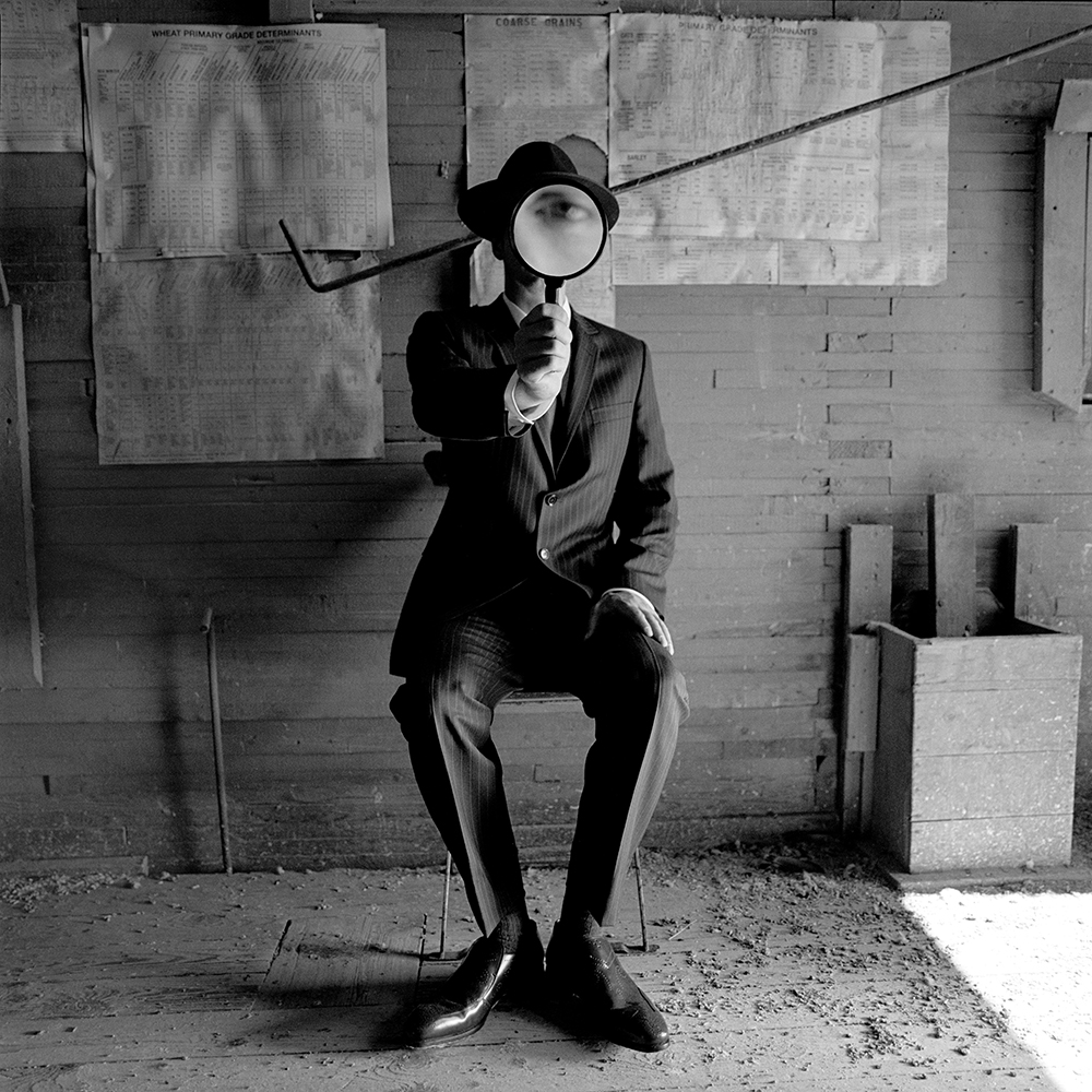 RODNEY SMITH,  Collin with Magnifying Glass , Alberta, Canada, 2004