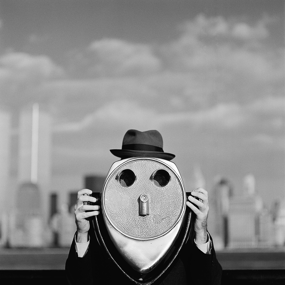 RODNEY SMITH, Viewfinder Face with Hat , New Jersey, 1997