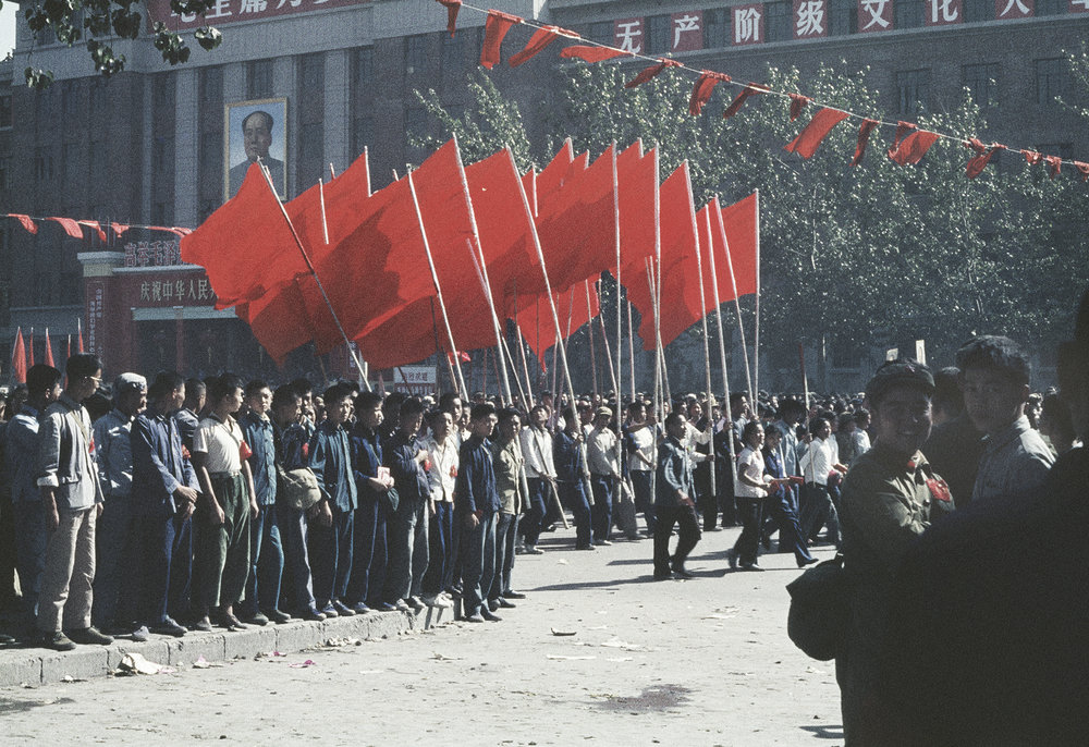 SOLANGE BRAND,  Untitled  (National Day march on Changan Avenue), Beijing, China, October 1, 1966
