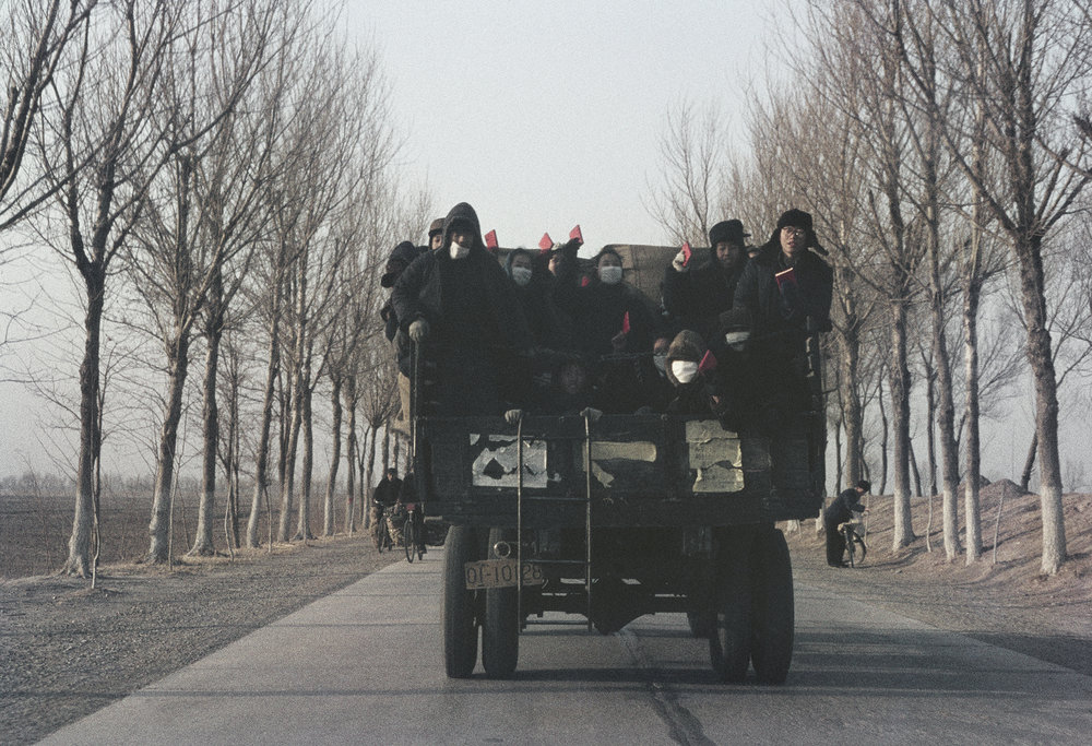 "SOLANGE BRAND,  Untitled  (Red Guards on their ""Long March"" from Tianjin to Beijing), China, 1967"