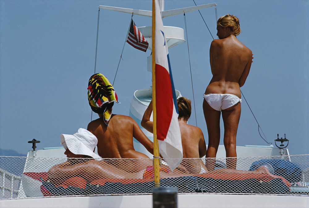 SLIM AARONS,  Yacht Holiday , 1967, courtesy Getty Image Archive