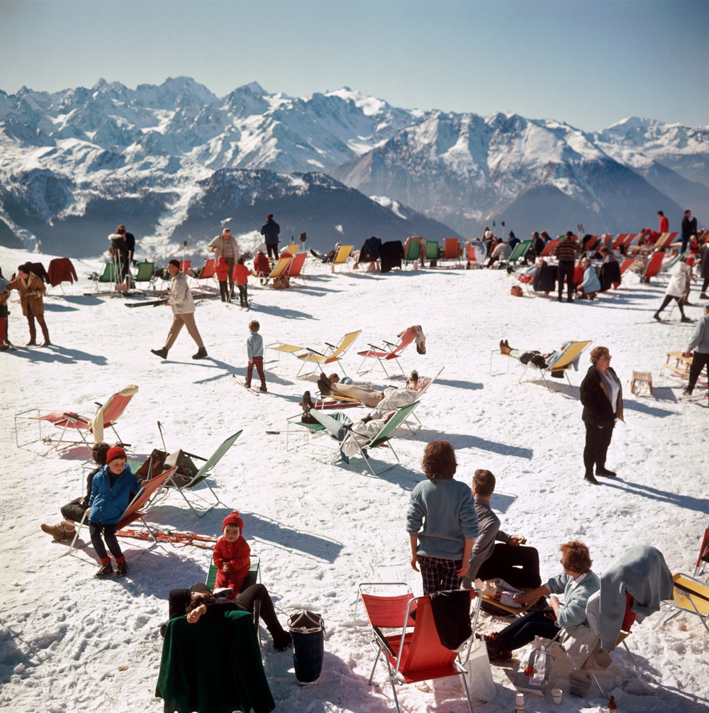 SLIM AARONS,  Verbier Vacation , 1964, courtesy Getty Image Archive
