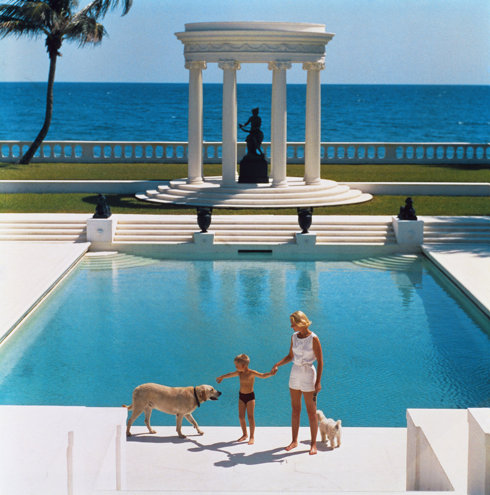 SLIM AARONS,  Nice Pool , 1955, courtesy Getty Image Archive