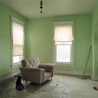 "iNTERIOR #7, (Living Room cHAIR)   From the series ""Empty Houses"", 2014"
