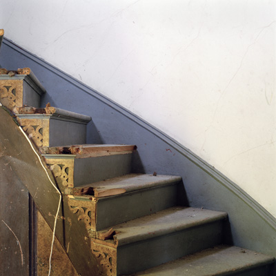 """iNTERIOR #34, (Stairs)   From the series """"Empty Houses"""", 2014"""