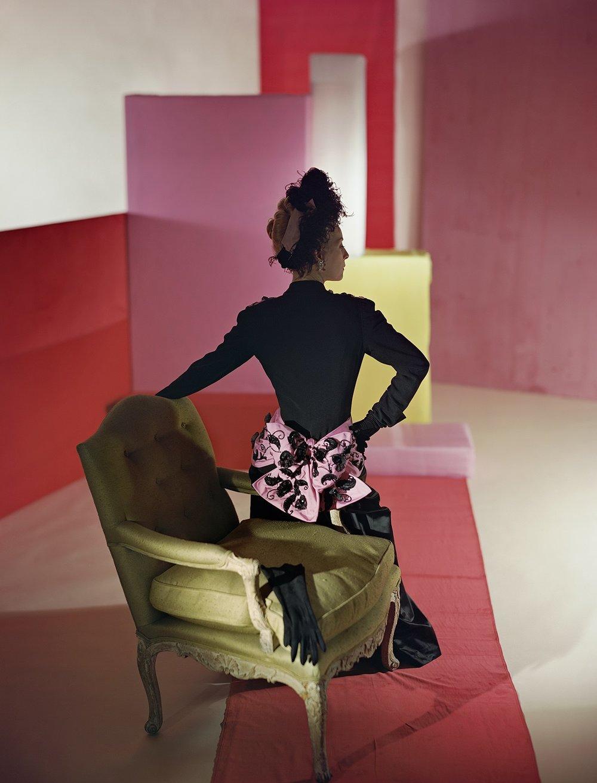 HORST P. HORST, Suit and Headdress by Schiaparelli , 1947