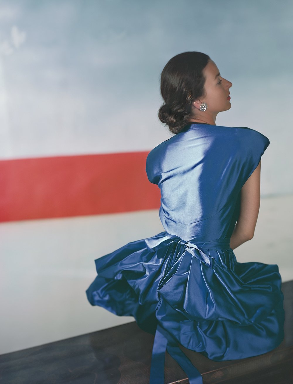 HORST P. HORST, Dorian Leigh, Dress by Henri Bendel, 1946