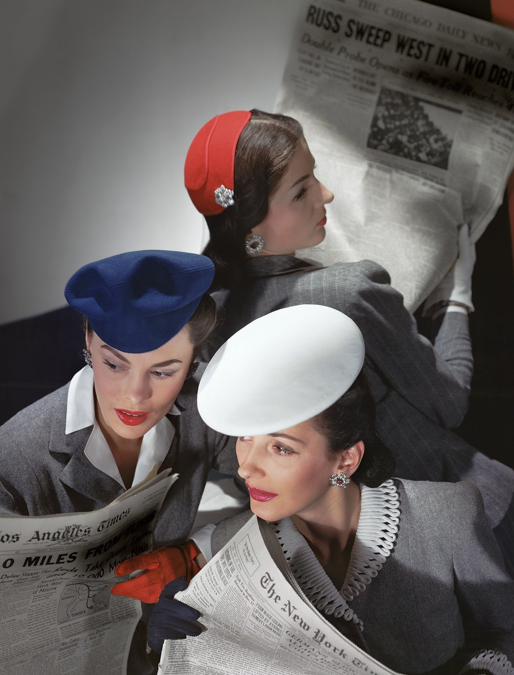 HORST P. HORST,  Hats by Best, Lord & Taylor, and Mme Pauline; Gloves by Dawnelle,  1943