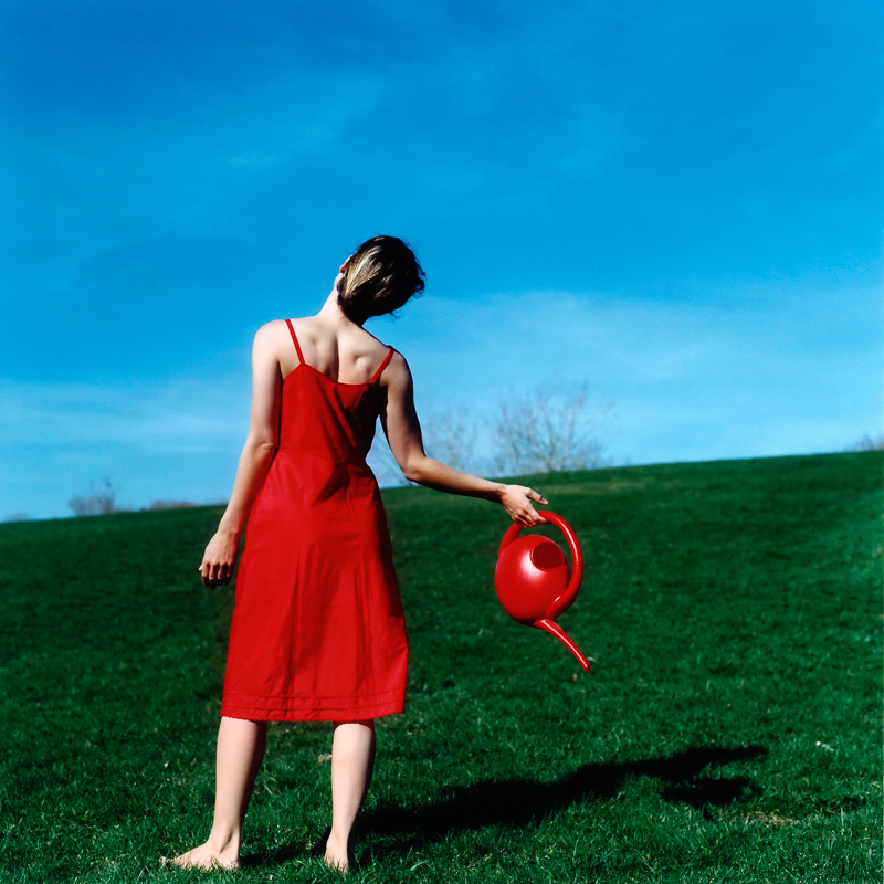 CIG HARVEY,WATERING CAN, SELF PORTRAIT, ROCKLAND, MAINE, 2004