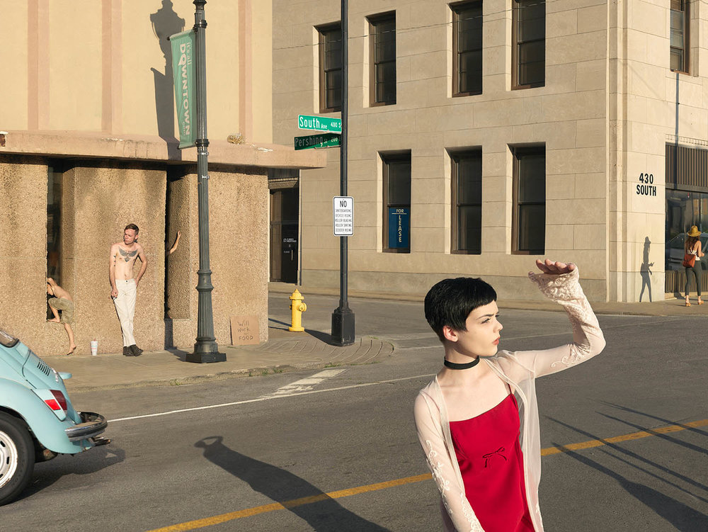 Julie Blackmon,  South & Pershing St.