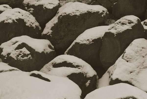 KOICHIRO KURITA,  Snow Covered Rocks, Nagano, Japan,  1989