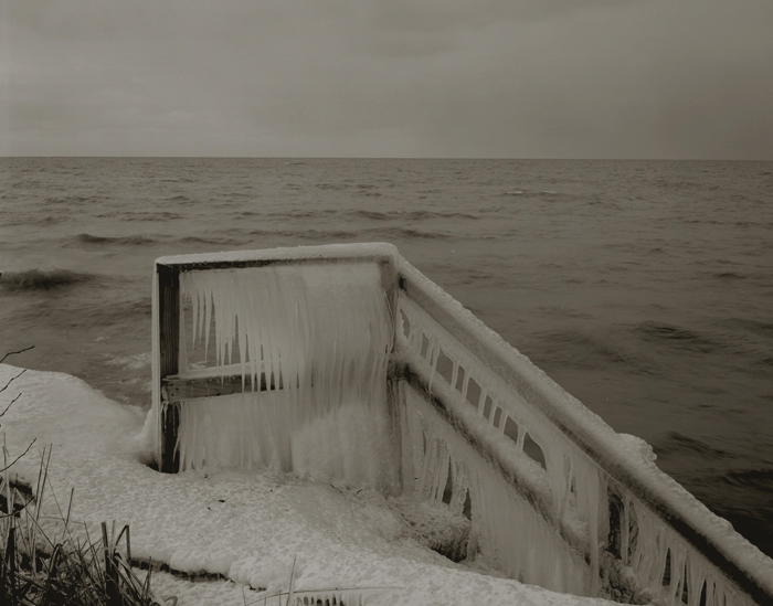 KOICHIRO KURITA,  Iced Fence, Lake Ontario, New York,  1991