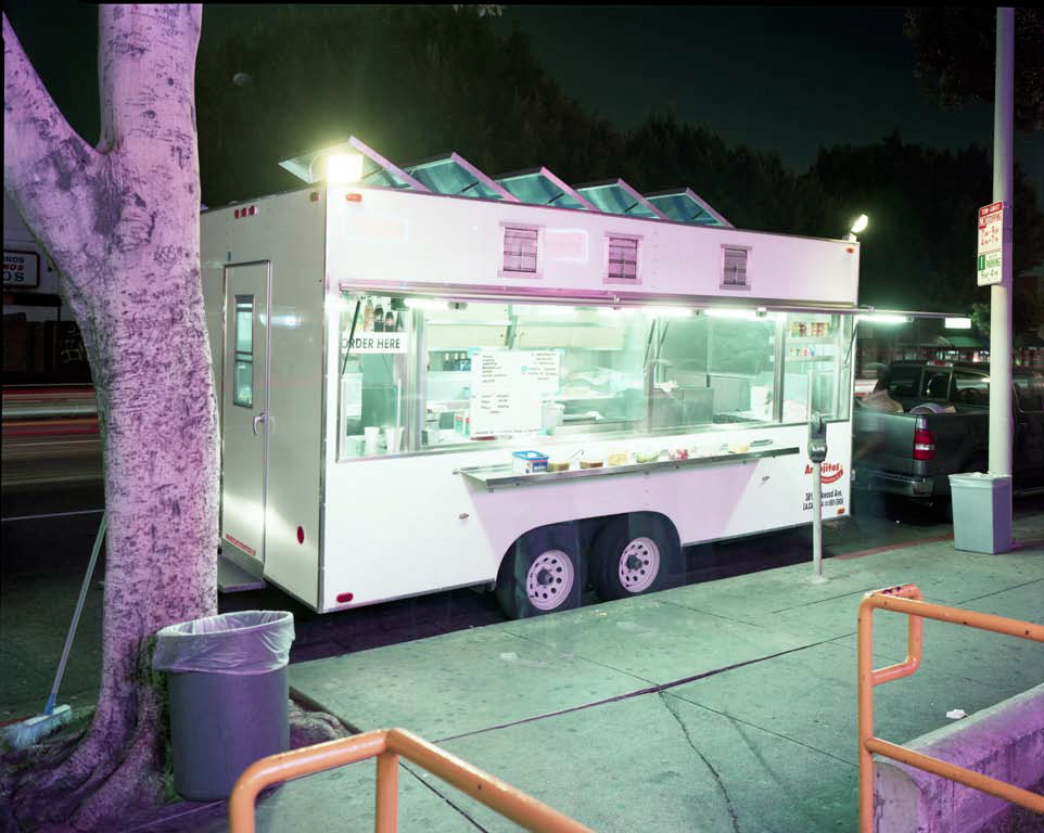 Jim Dow,  Taco Truck in Front of Check Cashing Office,  Los Angeles, CA 2009