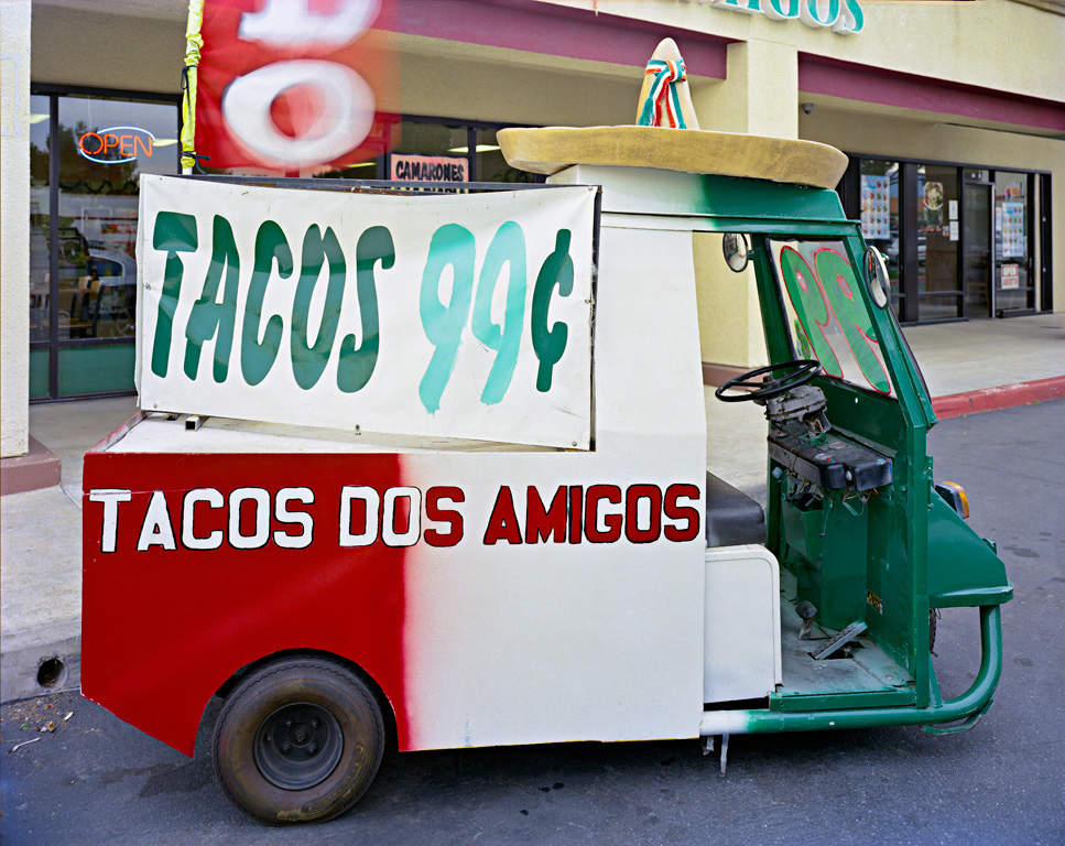Jim Dow, Taqueria Los Amigos Golf Cart, Rialto, CA 2012