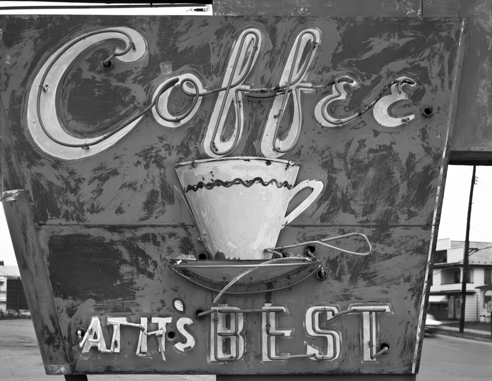 JIM DOW,  Detail, Restaurant Sign, US 11, Pittston, Pennsylvania,  1973