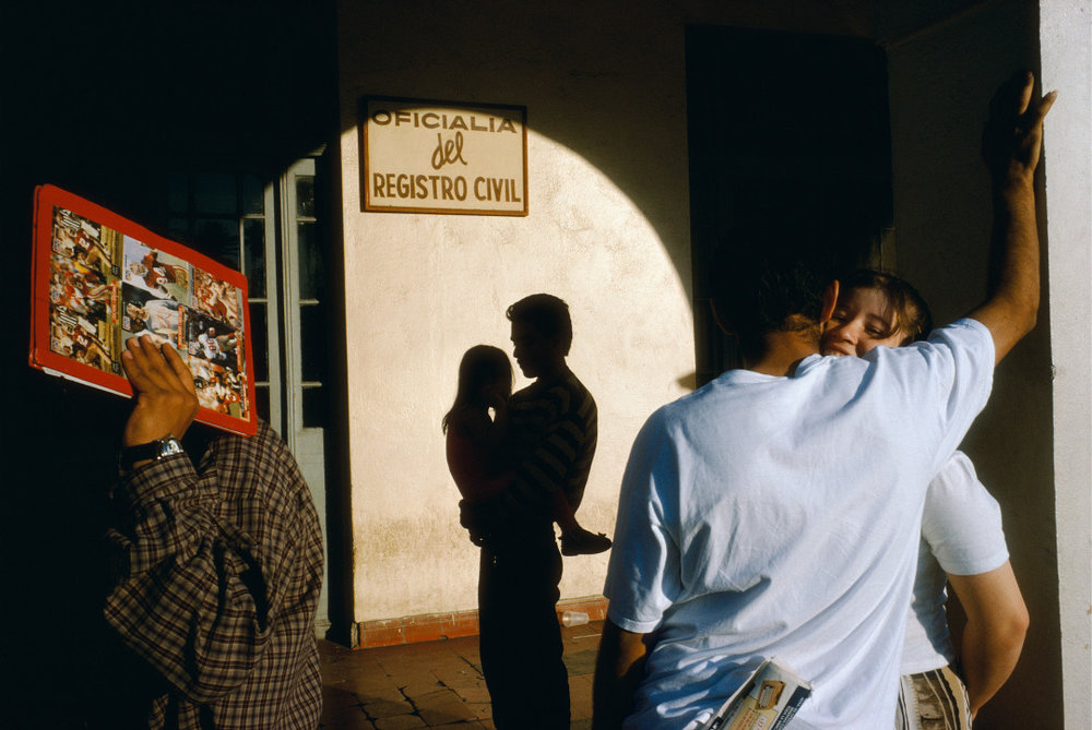 ALEX WEBB,  La Calle, Nuevo Laredo, Mexico,  1996