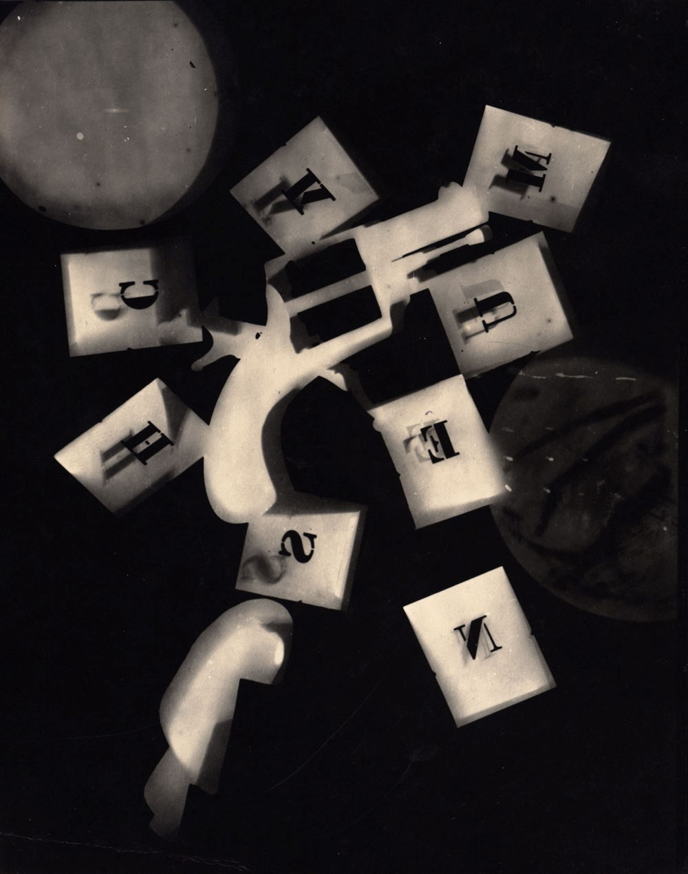 MAN RAY,  Alphabet and Gun,  1928