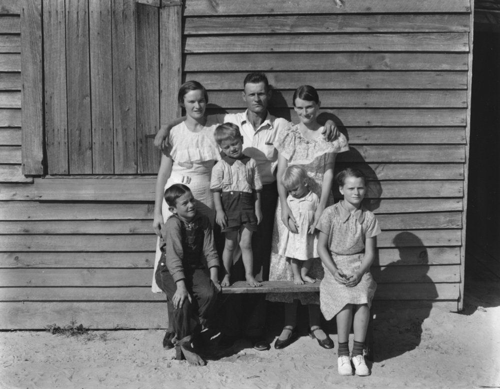 WALKER EVANS,  Burroughs Family, Hale County, Alabama,  1936