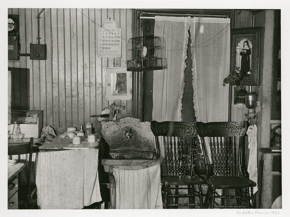 WALKER EVANS,  Tenement Kitchen, New York City,  1931