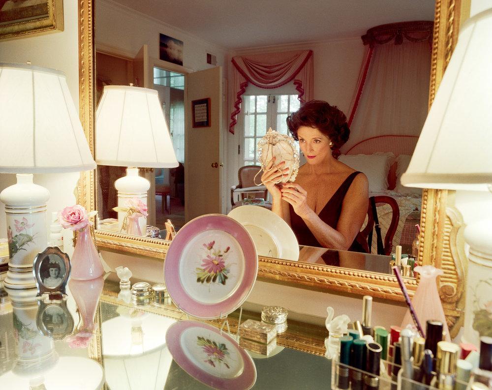SAGE SOHIER,  Mum applying make-up, Washington, D.C. , 1994