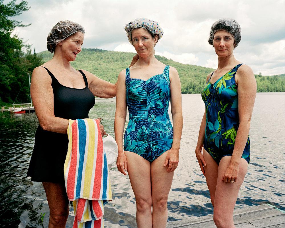 SAGE SOHIER,  Mum, Me, and Laine, Hewitt Lake, Minerva, NY , 2001