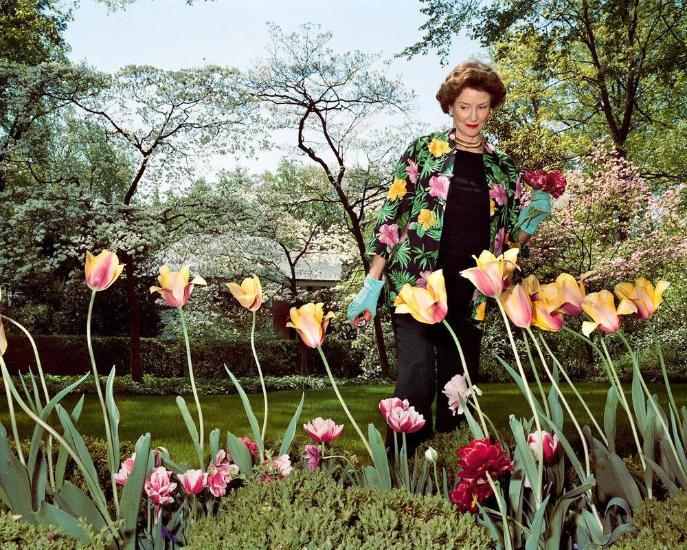 SAGE SOHIER,  Mum in her garden, Washington, D.C.,  2003