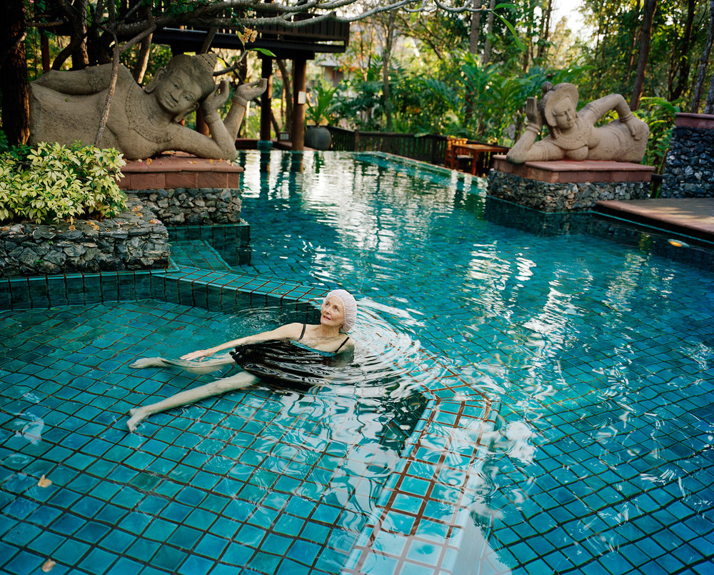 SAGE SOHIER,  Swimming with Buddhas, Four Seasons Resort, Chiang Mai, Thailand,  2008