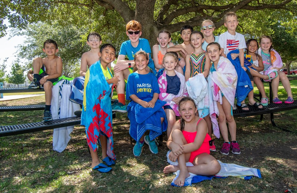 Parish Summer Day Camp - Our traditional day camps are available for PreK-K, 1st-2nd and 3rd-6th graders. Parish Summer Day Camp is jam-packed with fun activities like weekly pep rallies, waterslide Wednesdays, color wars and more!