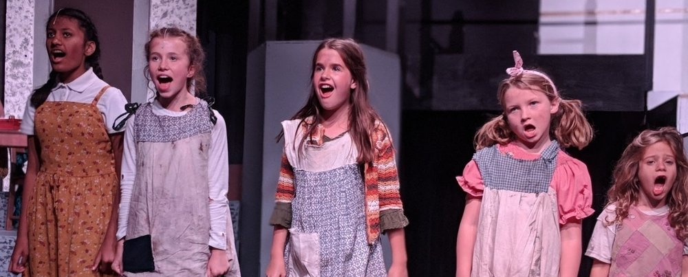 Parish Summer campers participating on a musical theater camp in Dallas, Texas.