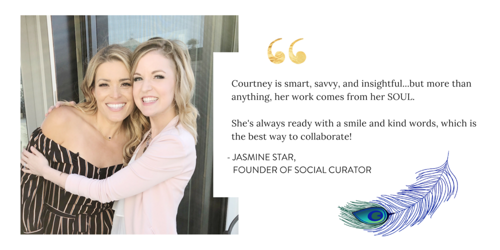 Jasmine Star Social Curator Courtney Elmer Business Coach Speaker Courtney Elmer Coaching