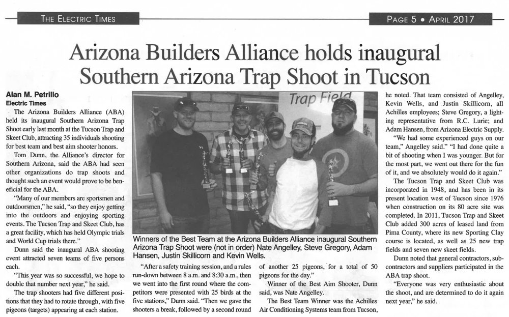 Article courtsey of The Electric Times - www.ElectricLeagueOfArizona.org