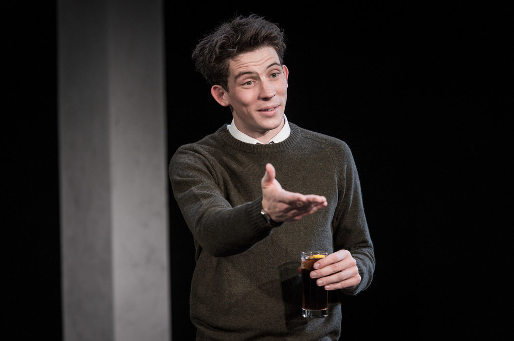 Josh O'Connor in Farragut North, Southwark Playhouse Off West End, composer - Jude Obermüller (photo by Robert Workman)
