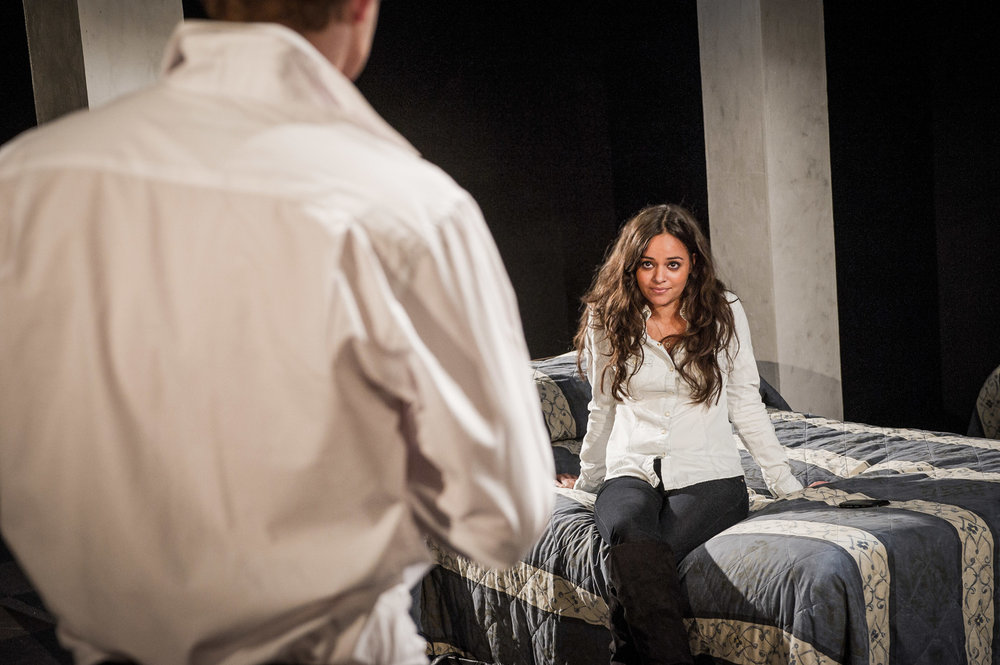 Aysha Kala in Farragut North, Southwark Playhouse Off West End, composer - Jude Obermüller (photo by Robert Workman)