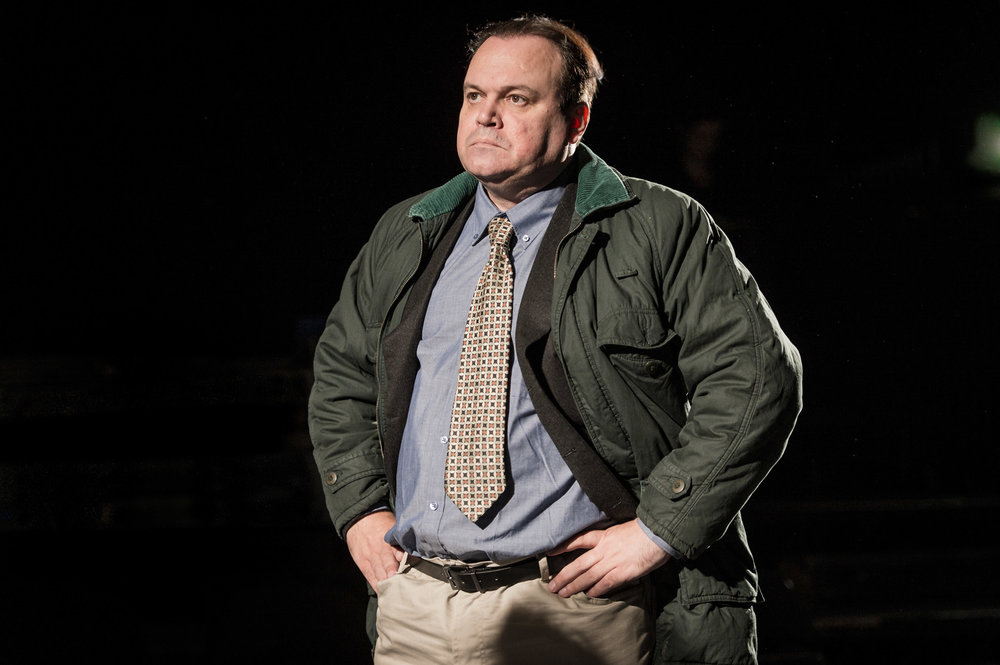 Shaun Williamson in Farragut North, Southwark Playhouse Off West End, composer - Jude Obermüller (photo by Robert Workman)